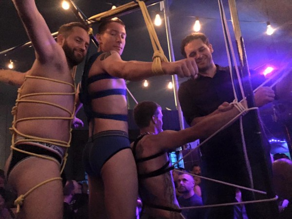 Folsom 2015 Bondage Demo at SF Eagle 6