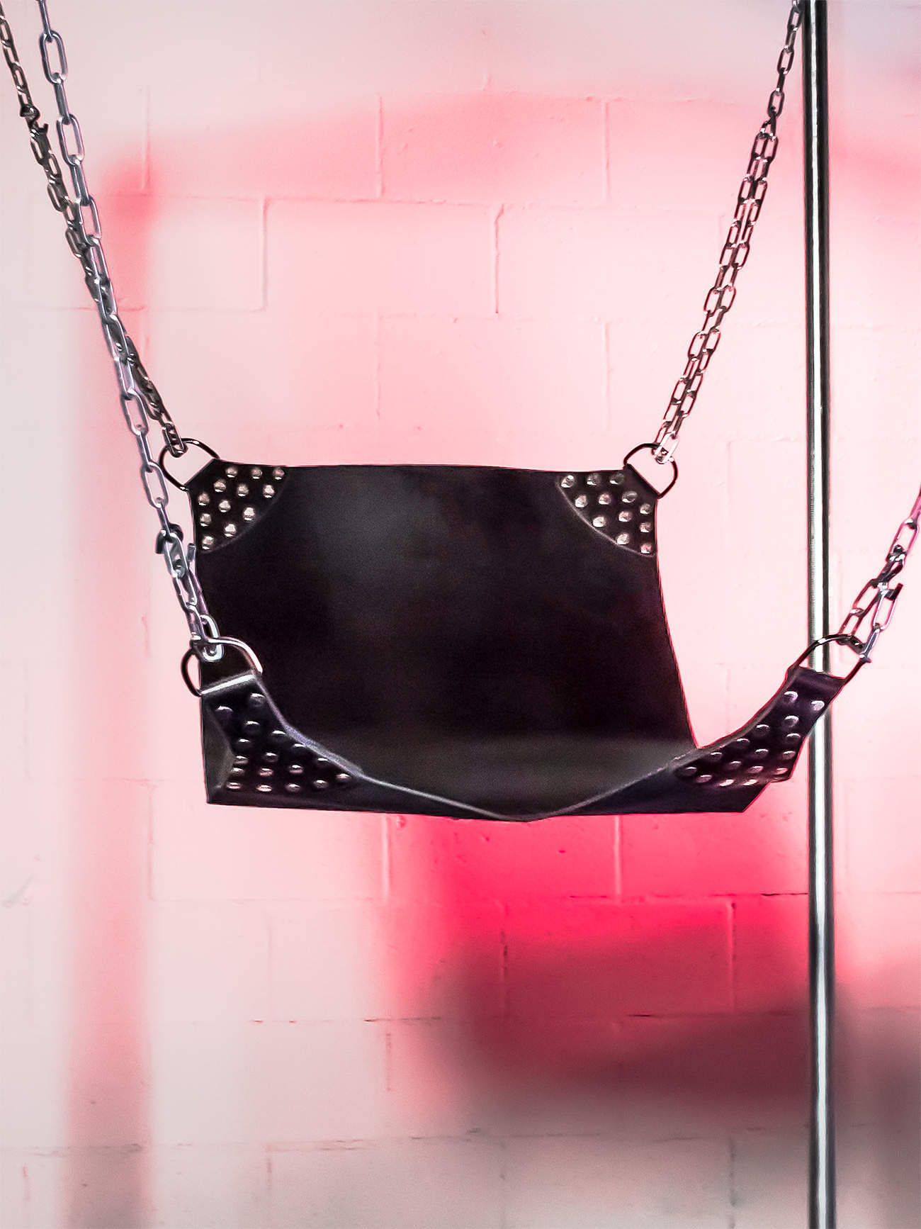 JimSupport 'Ass Master' Cut Out Leather Sling, Hanging View