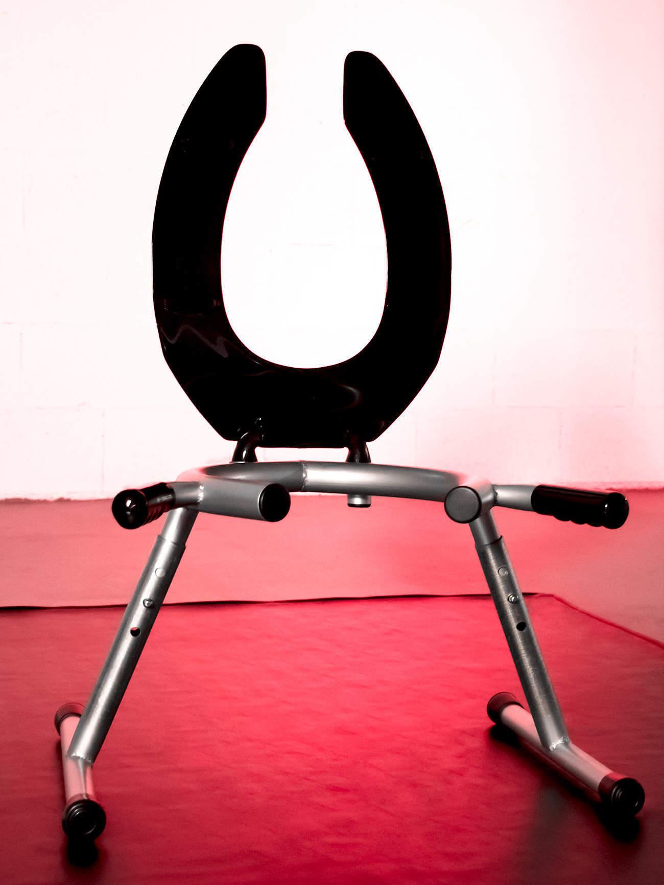 JimSupport Handled T-Leg Rim Seat, Seat Up