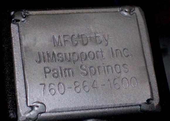 JimSupport Nameplate