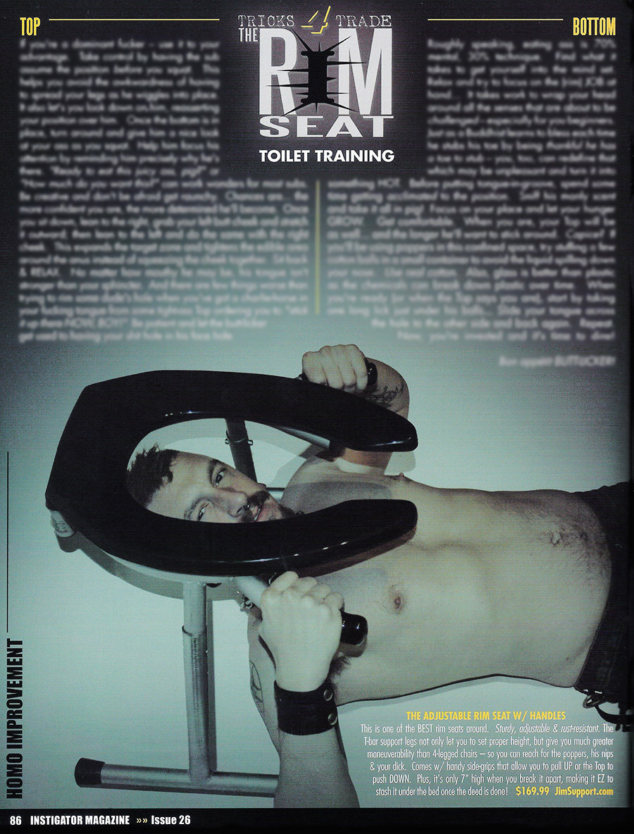 Rim Seat Article and Review from Instigator Magazine Issue 26