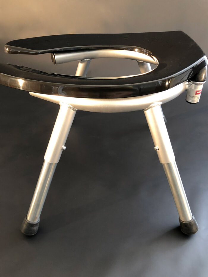 JimSupport Classic Rim Seat, Side View With Legs in Tall Position